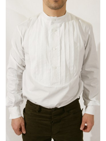 Camicia plissettata e ricamata